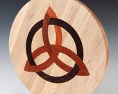 "Celtic Trinity inlaid 16"" diameter Lazy Susan"