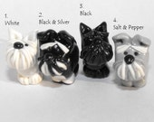 Schnauzer- White, Black and Silver, Black, or Salt and Pepper (One bead)