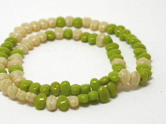 SALE Vintage Czech Beads