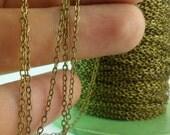 5 Meters - 16.5 Feet (1.5 x 2 mm) Antique Bronze Tone Brass Soldered Chain - Y006 ( Z028 )