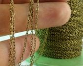 20 Meters - 66 Feet (1.5 x 2 mm) Antique Bronze Tone Brass Soldered Chain - Y006 ( Z028 )