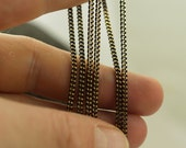 20 Meters - 66 Feet 2x2.5 mm Black Antique Brass  Sparkle Bright Faceted Soldered Curb Chain - Z061