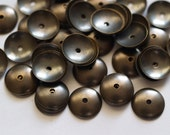 100 Pcs Antique Brass Round Cambered Middle Hole Connector, Findings, Bead Caps  (10 Mm)  K019