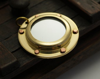 Brass Sailor Charm, 50 Solid Brass Portholes