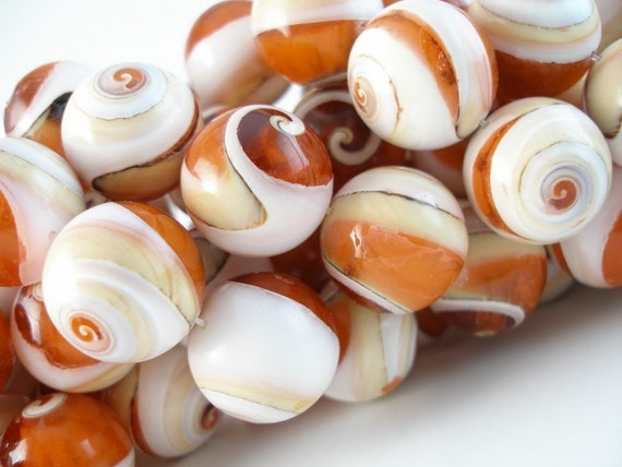 20 mm Snail Shell Beads ,5pcs