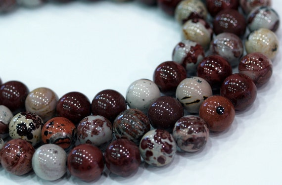Picture Jasper 12 mm Gemstone Round Beads Full Strand
