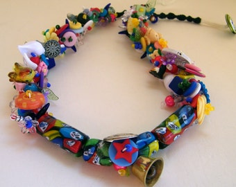 whimsy teacher's finger woven treasure necklace - 25.5 inch