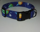 Dog Collar - Planets and Stars