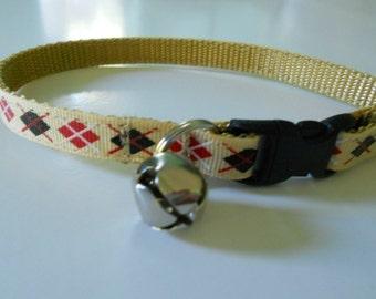 Argyle Cat or Kitten Safety Collar