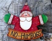 NO Humbugs Ornament