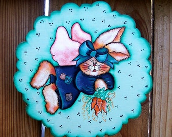 Patches Angel Bunny Wall Hanging