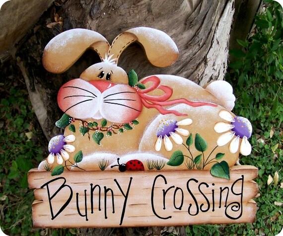 Bunny Crossing Sign