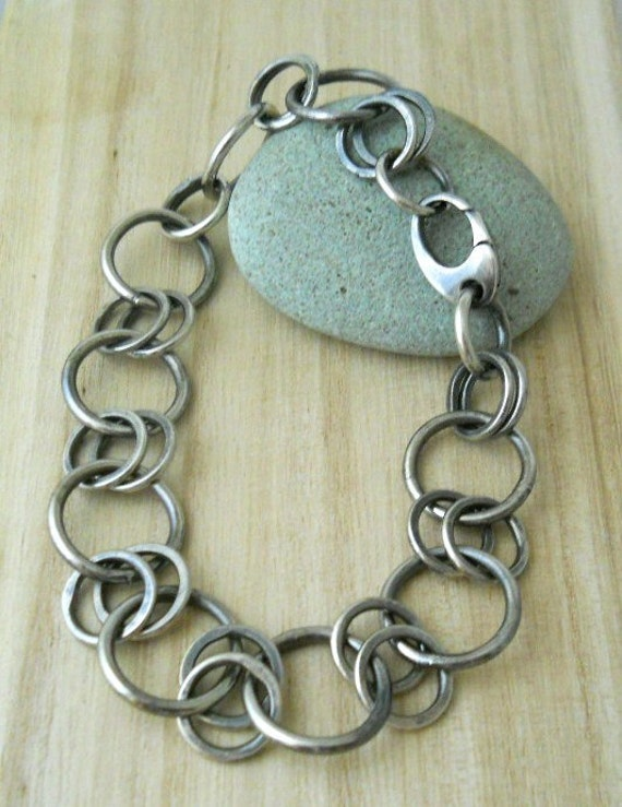 """Reserved for Cyndee  linked chain bracelet in sterling silver 8"""" length"""