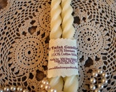 Beeswax Candles Twist Taper set of 2 Soft White Color Beeswax
