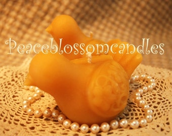 Beeswax Candle Peace Dove Pigeon Shaped Candle