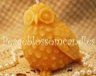 Beeswax Candle Medium Owl Shaped Candle