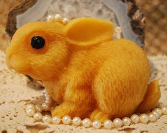 Pure Beeswax BIG Bunny Rabbit Candle