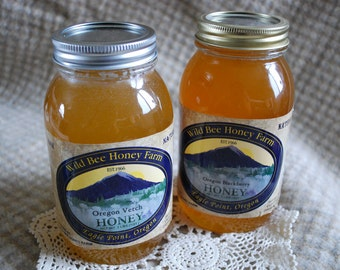 Pure RAW Honey from Oregon bees 1 quart size (3 lb.)