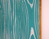 FAUX BOIS Wood Grain Teal (mounted)  .. Steel Memo/Magnet/Dry Erase Board