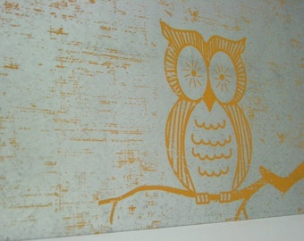Wise Owl / Magnet Dry Erase Steel Memo Board / Housewarming Hostess Gift / Office Decor / Wall Hanging / Organization / Message Board