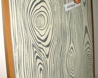 Wood Grain ..Dry Erase Memo Board / Magnet Board / Housewarming Gift / Office Decor / Organization / Coworker Gift / Desk / Desk Accessories