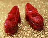 Blythe red with fine red glitter Platform Mary Jane shoes