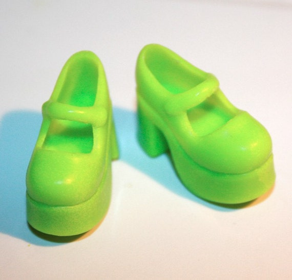blythe lime green platform shoes