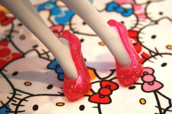 Monster High Magenta Pink with Glitter Stiletto heeled shoes