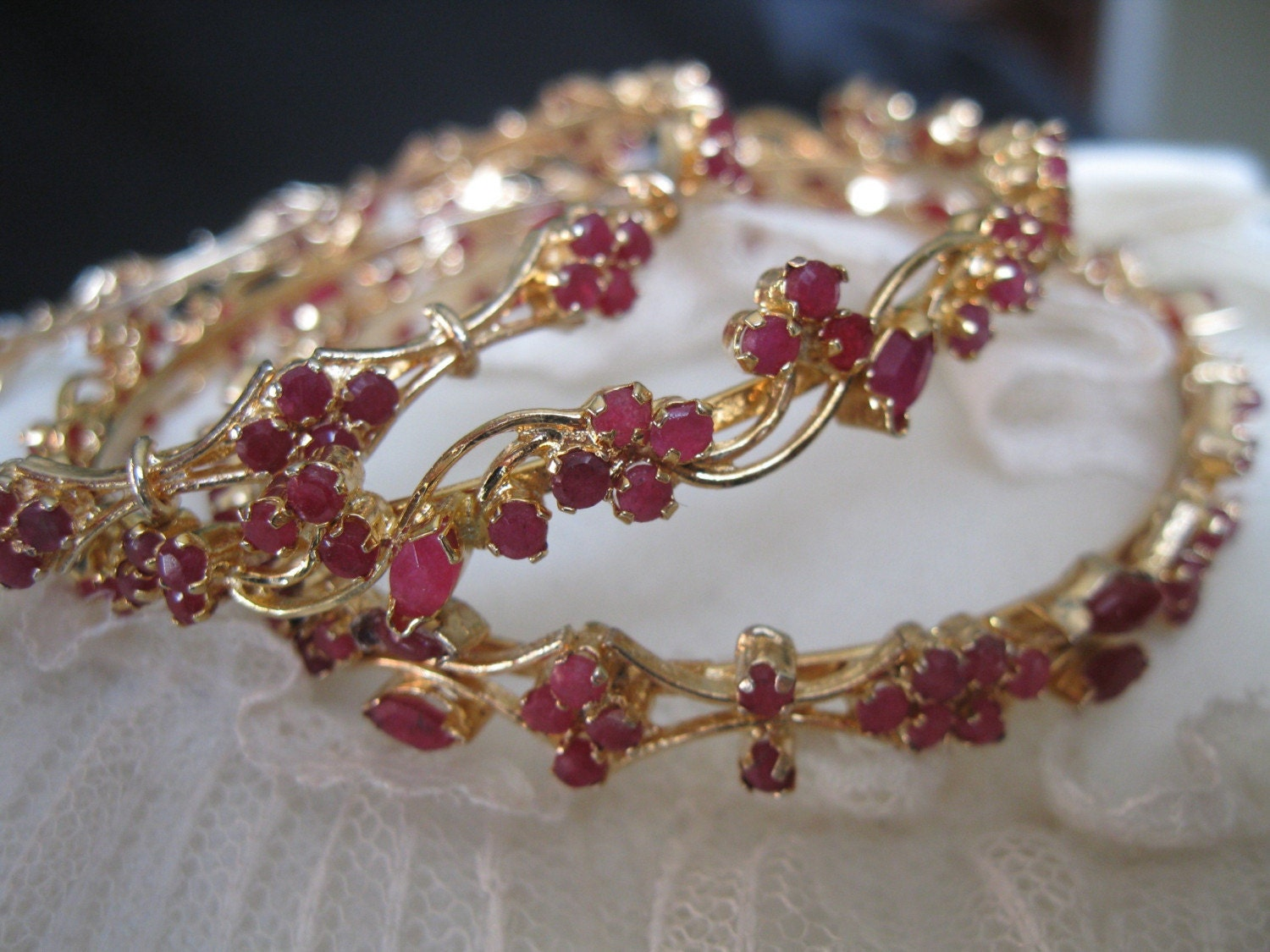 Lovelier Than Tho Natural Ruby Bangle Bracelet Ruby
