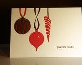 French Ornaments Letterpress Holiday Note Set