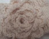 cream winter bloom headband