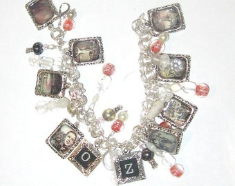 Wizard of Oz Dorothy's Dream Altered Art Charm Bracelet SALE