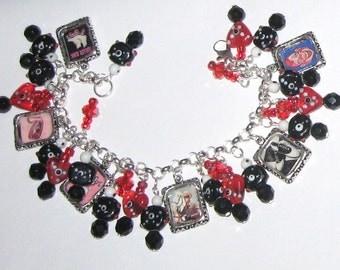 I Love the 50's  Altered Art Charm Bracelet SALE