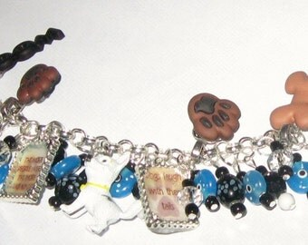 I Love My Dog Altered Art Charm Bracelet SALE