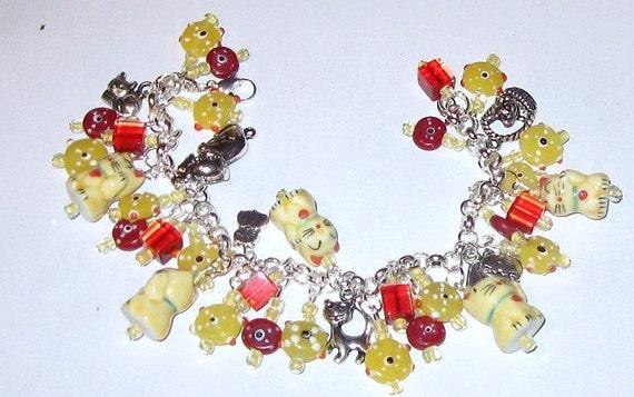 Good Luck Cat Charm Bracelet