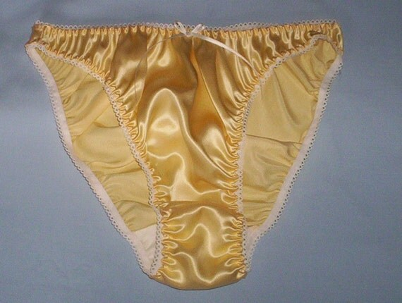 Yellow Satin Panties 89