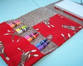 Coloring Wallet - Red Sock Monkeys, Crayons and Paper Included
