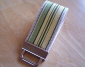 Mini Key Fob Keychain - Amy Butler Oxford Stripe