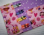 Coloring Wallet - Lil Kingdom and Lil Princess by Michael Miller, Crayons and Paper Included