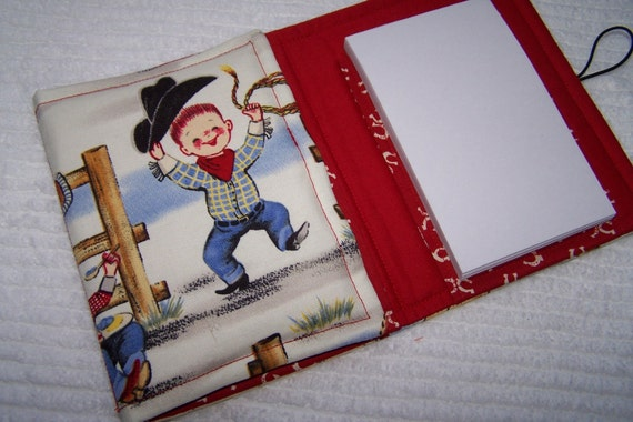 Coloring Wallet - Lil' Cowpokes by Michael Miller, Crayons and Paper Included