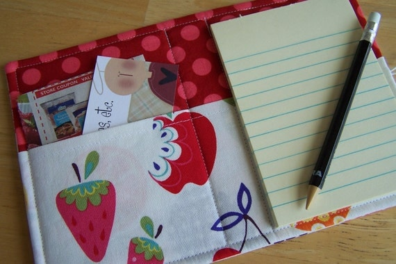 15% OFF Mini List Taker, Organizer, Coupon Holder, Willow Orchard by Alexander Henry, Notepad And Pen/Pencil Included