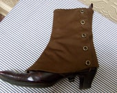 Womens Gothic/Steampunk Spats -- Antique Brown - Womens Size 6.5
