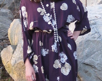 ON SALE/ 1930's Reproduction Floral  Dress