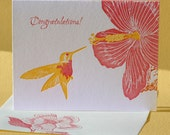 Hibiscus Congratulations Card