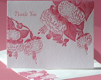 Fuchsia Thank You Card