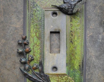 Hummingbird Single Toggle Light Switch Cover