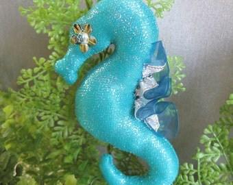 seahorse, cloth art doll ooak, Yousuke