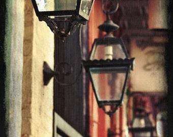 New Orleans - Fine Art Print - Gas Lamps