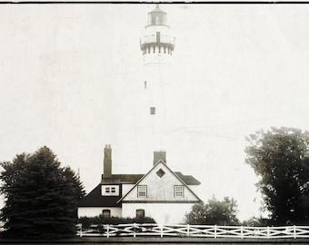 "Fine Art Print -  ""Socked In"" - Lighthouse - Racine, Wisconsin"