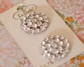 Vintage La Mode Diamond like Buttons Set of 2